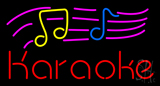 Karaoke With Musical Notes Neon Sign