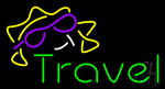 Green Travel Neon Sign