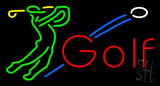 Man Playing Golf Neon Sign