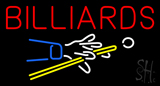 Billiards Logo Neon Sign