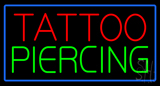 Tattoo Piercing Blue Border Neon Sign