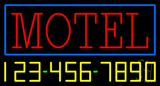 Motel With Phone Number Neon Sign