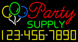 Party Supply Phone Number Neon Sign
