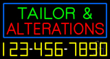 Tailor And Alterations With Phone Number Neon Sign