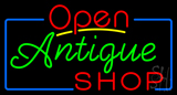 Open Antiques Shop Neon Sign