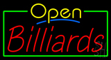 Open Billiards Neon Sign