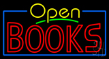 Yellow Open Red Books Neon Sign