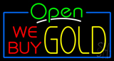 Open We Buy Gold Neon Sign
