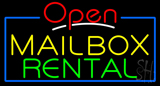 Open Mailbox Rental Neon Sign