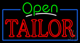 Green Open Double Stroke Tailor Neon Sign
