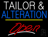Tailor And Alteration Open Yellow Line Neon Sign