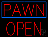 Red Pawn Block Open Neon Sign