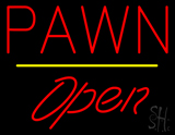 Pawn Open Yellow Line Neon Sign