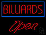 Billiards Open Neon Sign