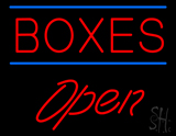 Boxes Double Line Open Neon Sign