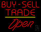 Buy Sell Trade Open Yellow Line Neon Sign