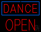 Red Dance Block Open Neon Sign