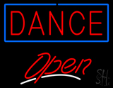 Dance Open White Line Neon Sign