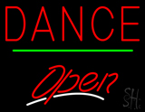 Dance Open Green Line Neon Sign