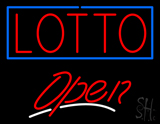 Red Lotto Open Neon Sign