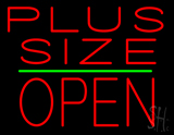 Plus Size Block Open Green Line Neon Sign