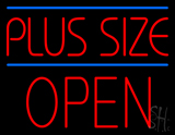 Plus Size Blue Lines Block Open Neon Sign