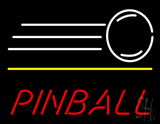 Red Pinball With Logo Neon Sign
