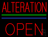 Red Alteration Block Open Neon Sign