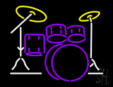 Drum Set Neon Sign