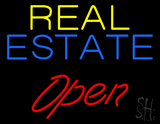 Real Estate Red Open Neon Sign