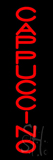 Red Vertical Cappuccino Neon Sign