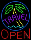 Travel Open Neon Sign