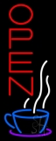 Vertical Open Coffee Neon Sign