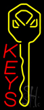 Vertical Keys Neon Sign
