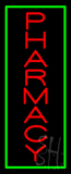 Red Pharmacy Green Border Neon Sign