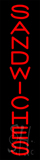 Vertical Red Sandwiches Neon Sign