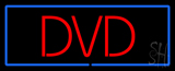 Red Dvd Blue Border Neon Sign