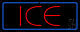 Red Ice Blue Border Neon Sign