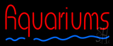 Red Aquariums Blue Line Neon Sign