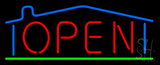 House Logo Open Neon Sign