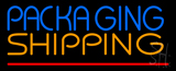 Packaging Shipping Red Line Neon Sign