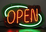 Deco Style Open Outdoor Neon Sign