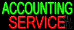 Accounting Service Neon Sign