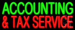 Accounting And Tax Service Neon Sign