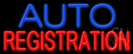 Auto Registration Neon Sign