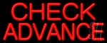 Check Advance Neon Sign