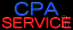 Cpa Service Neon Sign