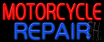 Motorcycle Repair Neon Sign