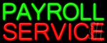 Payroll Service Neon Sign
