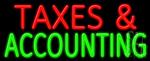 Taxes And Accounting Neon Sign